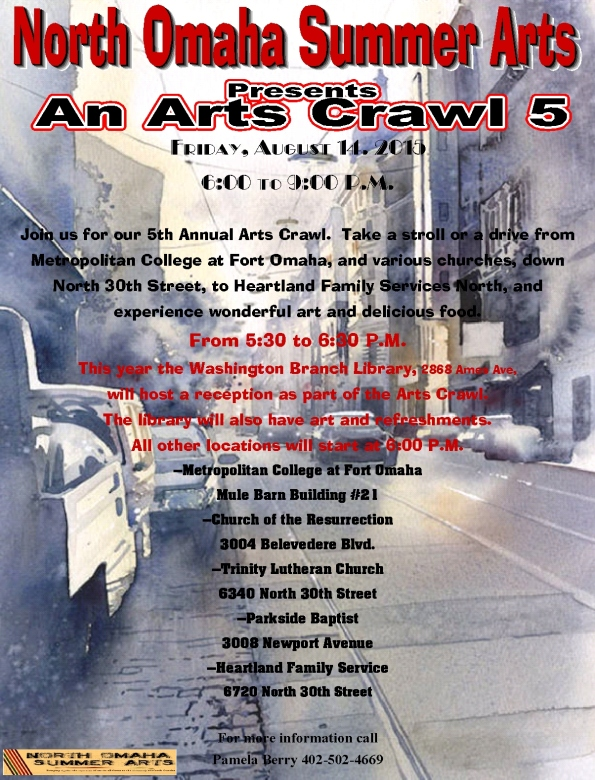 North Omaha Arts Crawl 2015-3-1