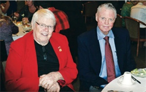 Lew with Tom Osborne